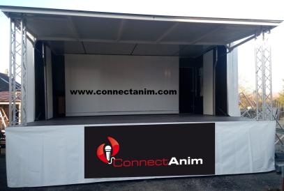 camion podium couvert à louer CONNECTANIM
